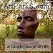 Bronze Busts and Heads Sculptures Statues statuettes Commissions Bespoke Custom Portrait Memorial Commemorative sculpture or statue sculpture by Simon Gudgeon titled: 'Tree Spirit (Big Outsize abstract Head Yard sculpture)'