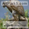 Bronze Birds of Prey / Raptors sculpture by Stephane Deguilhen titled: 'The Claw (Bronze little Perched Eagle sculpture)'