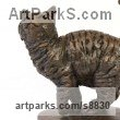 Cold Cast Bronze Cats sculpture by Tanya Russell titled: 'Cat (Small Bronze Cheerful statue Bronze sculpture)'