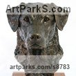 Cold Cast Bronze Dogs sculpture by Tanya Russell titled: 'Labrador Portrait (Commission Lifelike Head sculpture)'