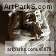 Bath Stone Grotesque Sculptures / Statues / figurines to order Commission Custom Bespoke sculpture by Thomas J. Nicholls titled: 'Boss stone Commission (Carved Gagoyle Commission)'