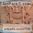 Carved Brick Wall Panel Carved Engraved Cast Moulded sculpture plaque sculpture by sculptor Thomas J. Nicholls titled: 'Victorian Style Decorative Panel (Carved Brick Wall Scrolls and follia)' - Artwork View 1