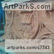 Bricks Wall Panel Carved Engraved Cast Moulded sculpture plaque sculpture by sculptor Thomas J. Nicholls titled: 'Victorian style decorative panel (Carved Brick Wall arving statue)' - Artwork View 3