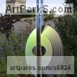 Rockpanel, stainless steel, oak Abstract Contemporary or Modern Large Public Art sculpture statuary sculpture by sculptor Thomas Joynes titled: 'Henosis (Curved Circular Round Disk Shaped abstract sculpture)'