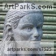 Limestone Human Form: Abstract sculpture by sculptor Thomas Kenrick titled: 'Amelia 3D'