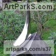 Stainless Steel Abstract Contemporary or Modern Outdoor Outside Exterior Garden / Yard Sculptures Statues statuary sculpture by Tim Fortune titled: 'Drop (Large stainless Steel Drop of Syrup Yard garden statue/sculpture)'