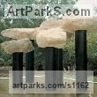 Stone, stainless steel Abstract Contemporary or Modern Large Public Art sculpture statuary sculpture by sculptor Todor Todorov titled: 'Art Forest (Big Outdoor abstract Trees sculptures)'