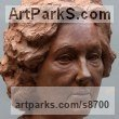 Terracotta Busts and Heads sculpture statuettes Commissions Bespoke Custom Portrait Memorial Commemorative sculpture or sculpture by sculptor Tristan MacDougall titled: 'Portrait of Angela (Terra Cotta Portrait Bust statue)'