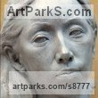 Bronze Busts and Heads Sculptures Statues statuettes Commissions Bespoke Custom Portrait Memorial Commemorative sculpture or statue sculpture by Tristan MacDougall titled: 'bronze Portrait of Junko (bronze Bust Head statue)'