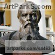 Bronze and Granite Busts and Heads sculpture statuettes Commissions Bespoke Custom Portrait Memorial Commemorative sculpture or sculpture by sculptor Valery Yevdokimov titled: 'F.M. Dostoevsky, Bust-Monument in Tallin (Bronze Bust statues)'