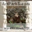 "Carved Bateig Sand stone Portrait sculpture / Commission or Bespoke or Customised sculpture by Vega Bermejo Castelnau titled: ""Four Points of View (Carved 4 Faces Heads stone statue carving totems)"""