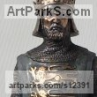 Bronze & Marble Historical Character Statues / sculpture by Vitaliy Semenchenko titled: 'Richard the Lionheart (Little Bronze statues)'
