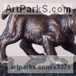 12 Cats Wild and Big Cats sculpture by Vitaliy Semenchenko titled: 'Wild Cat (Bronze Little sculpture statuettes)'