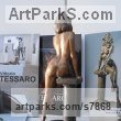 Bronze Sensuous Sexy Erotic (Nude Naked Girls Females Women Ladies) sculpture by sculptor Vittorio Tessaro titled: 'nude on Column (Naked Sitting Girl female statue)' - Artwork View 3