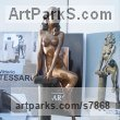 Bronze Sensuous Sexy Erotic (Nude Naked Girls Females Women Ladies) sculpture by sculptor Vittorio Tessaro titled: 'nude on Column (Naked Sitting Girl female statue)' - Artwork View 4