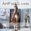 Bronze Sensuous Sexy Erotic (Nude Naked Girls Females Women Ladies) sculpture by sculptor Vittorio Tessaro titled: 'nude on Column (Naked Sitting Girl female statue)' - Artwork View 5