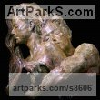 Bronze Love / Affection sculpture by Wesley Wofford titled: 'Dalliance- Embracing My Muse (Pure Love nude statues)'