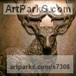 Bronze Animal Birds Fish Busts or Heads or Masks or Trophies For Sale or Commission sculpture by Wesley Wofford titled: 'Majesty (Bronze Wall Mounted Deer Stag Head/Mask Trophy statue sculpture)'