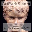 Bronze Baby Infant Young Child sculpturette sculpture by sculptor Wesley Wofford titled: 'Neverland Found (Bronze Child Portrait Commission sculpture Bust Head)'