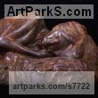 Bronze Nudes, Female sculpture by sculptor Wesley Wofford titled: 'Slumber (nude Sleeping Girls female Lying statues)'