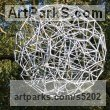 Steel Spherical Globe like Ball shaped Round Abstract Contemporary sculpture statuette sculpture by sculptor Will Carr titled: 'Connections (Geodesic abstract Sphere Spherical statue)'
