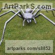Steel Fabricated Metal Abstract sculpture by sculptor Will Carr titled: 'Spider'