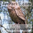 Steel Garden Or Yard / Outside and Outdoor sculpture by sculptor Will Carr titled: 'Tawny Owl' - Artwork View 1