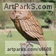 Steel Garden Or Yard / Outside and Outdoor sculpture by sculptor Will Carr titled: 'Tawny Owl' - Artwork View 3