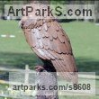 Steel Garden Or Yard / Outside and Outdoor sculpture by sculptor Will Carr titled: 'Tawny Owl' - Artwork View 4