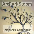 Steel Wall Mounted or Wall Hanging sculpture by sculptor Will Carr titled: 'Tree Wall Piece' - Artwork View 3