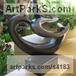 Bronze Abstract Modern Contemporary Avant Garde sculpture statuettes figurines statuary both Indoor Or outside sculpture by sculptor Will Herrera titled: 'Ocean Dream (Bronze abstract Modern Sea Swirl statue)'