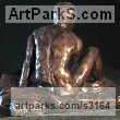 Bronze Portrait Sculptures / Commission or Bespoke or Customised sculpture by sculptor William Mather titled: 'Avanti (nude Macho nude Young Man Little statuettes)' - Artwork View 2