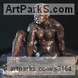 Bronze Portrait Sculptures / Commission or Bespoke or Customised sculpture by sculptor William Mather titled: 'Avanti (nude Macho nude Young Man Little statuettes)' - Artwork View 3