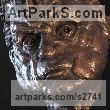 Bronze Portrait Sculptures / Commission or Bespoke or Customised sculpture by sculptor William Mather titled: 'Francis Bacon (Commissioned Bronze Bust/Head sculptures/statues)' - Artwork View 2