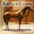 Bronze Horses Small, for Indoors and Inside Display sculpturettes Sculptures figurines commissions commemoratives sculpture by sculptor Yanina Antsulevich titled: 'Aspekt (Small bronze Orloff Trotter Stallion/Horse sculpture/statuette)'