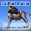 Bronze Horse Sculpture / Equines Race Horses Pack HorseCart Horses Plough Horsess sculpture by sculptor Yanina Antsulevich titled: 'Donkey (Small bronze Standing Equine sculptures/statuette/statue/fi)' - Artwork View 4