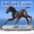 Horse Sculpture / Equines Race Horses Pack HorseCart Horses Plough Horsess sculpture by sculptor Yanina Antsulevich titled: 'The Frst Hour of Life (Tottering Foal/Baby/young horse bronzes/statue)' - Artwork View 2