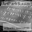 Slate Carved and Engraved Lettering Writing Inscriptions Poems Quotations Carving Panels sculpture by sculptor Zoe Singleton titled: 'Forwards and Backwards (Carved garden Motto plaques)'